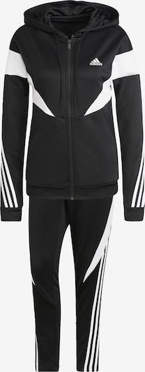 Treniruočių kostiumas iš ADIDAS PERFORMANCE, spalva – juoda / balta, Prekių apžvalga