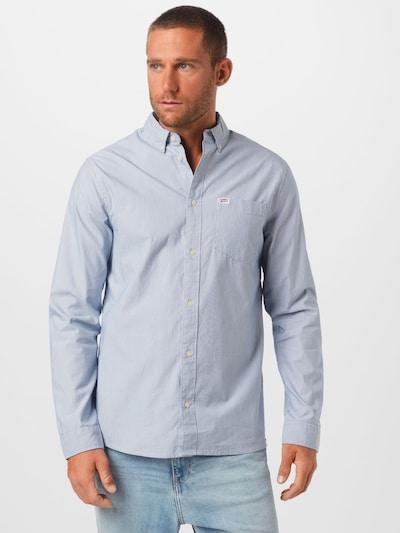 Tommy Jeans Hemd in hellblau / weiß: Frontalansicht