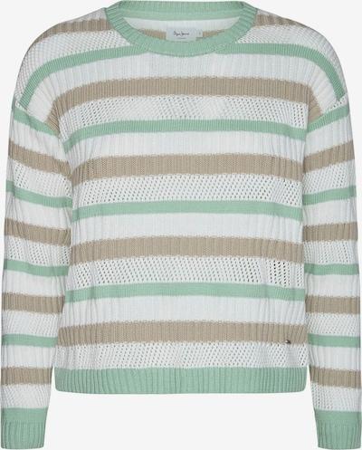 Pepe Jeans Pullover 'MARGOT' in beige / mint / weiß, Produktansicht