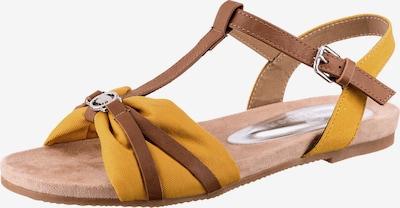 Sandale cu baretă TOM TAILOR pe maro / galben auriu, Vizualizare produs