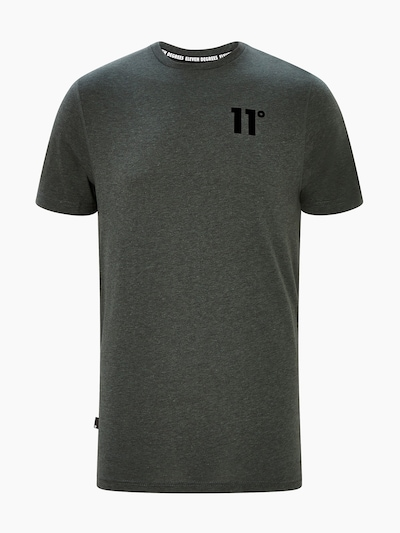 11 Degrees Shirt 'CORE' in de kleur Kaki / Zwart, Productweergave