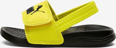 Pantofi deschiși PUMA pe galben citron / negru, Vizualizare produs