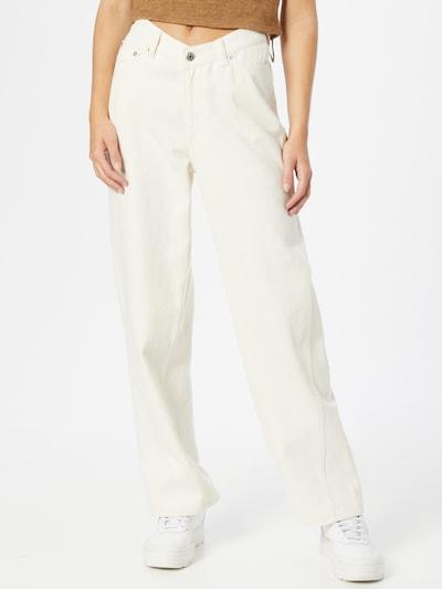 WEEKDAY Jean 'Lara' en blanc, Vue avec modèle
