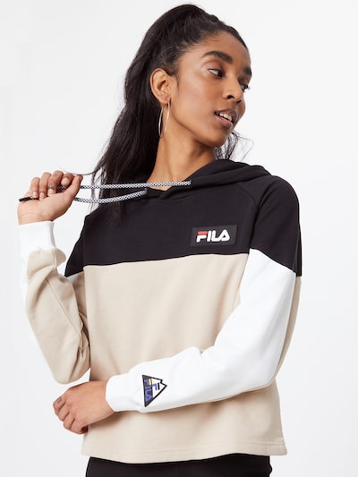 FILA Sweatshirt in Cappuccino / Black / White: Frontal view