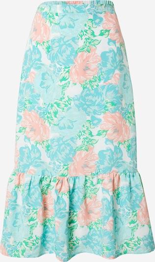 Fashion Union Rok 'SHIMMER' in de kleur Lichtblauw / Pastelgroen / Pink, Productweergave