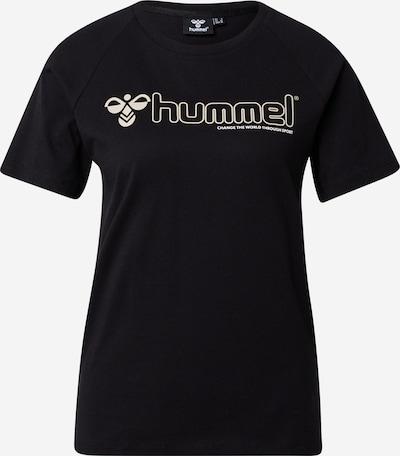 Hummel T-Shirt in dunkelbeige / schwarz, Produktansicht