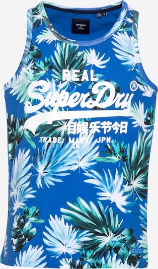 Superdry T-Krekls karaliski zils / zaļš / nefrīta / tumši zaļš / balts, Preces skats
