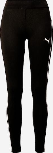 PUMA Pantalon de sport 'STYLE' en noir / blanc, Vue avec produit