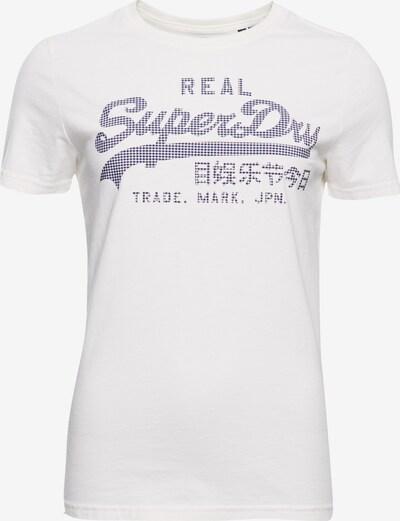 Superdry T-Shirt in blau / weiß: Frontalansicht