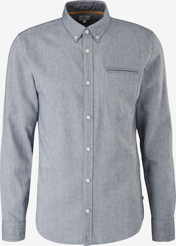 Q/S by s.Oliver 'Extra Slim' Hemd aus Chambray in Blau
