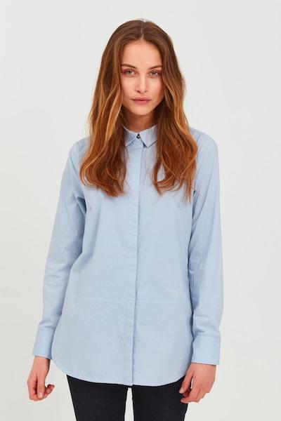PULZ Jeans Longbluse 'PZELNA L/S' in blau / hellblau, Modelansicht
