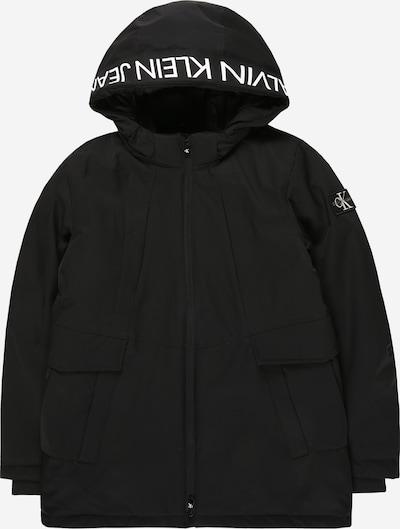 Calvin Klein Jeans Tussenjas 'Back To School' in de kleur Zwart / Wit, Productweergave