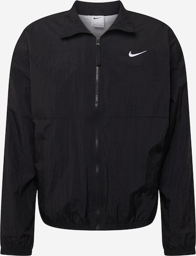 NIKE Sportjas 'Starting 5' in de kleur Zwart / Wit, Productweergave