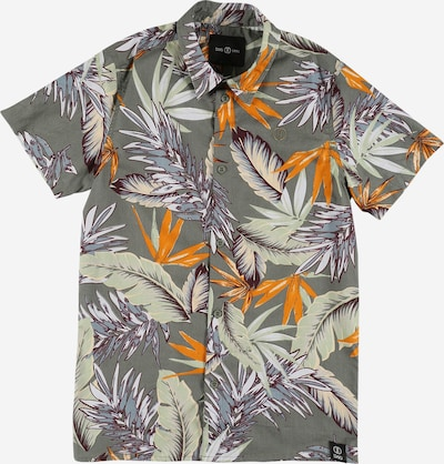 D-XEL Overhemd 'PHILIP' in de kleur Olijfgroen / Pastelgroen / Sinaasappel / Roodviolet, Productweergave