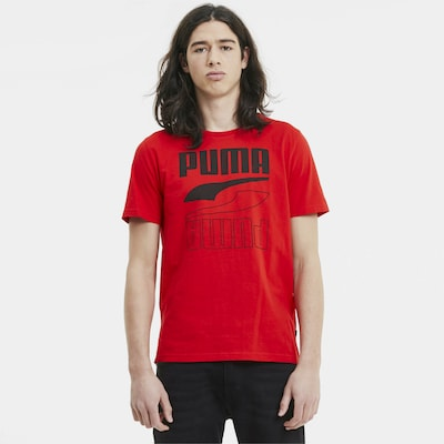 PUMA Functioneel shirt in de kleur Vuurrood: Vooraanzicht