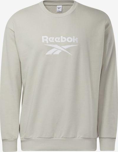 REEBOK Sweatshirt in hellgrau / weiß, Produktansicht