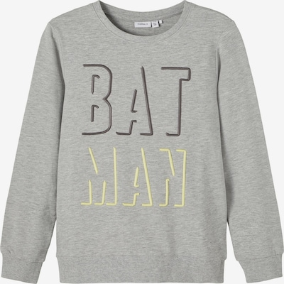 NAME IT Sweatshirt 'Batman' in hellgelb / dunkelgrau / graumeliert, Produktansicht