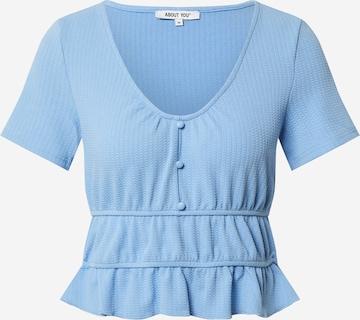 ABOUT YOU Skjorte 'Cindy' i blå