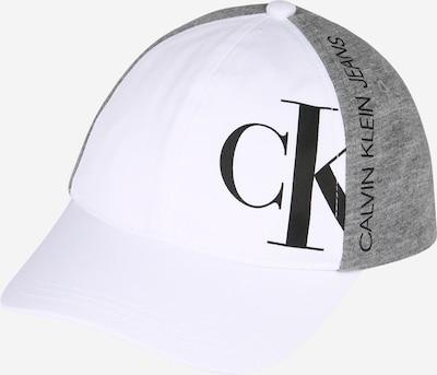 Calvin Klein Jeans Kapa u siva melange / crna / bijela, Pregled proizvoda