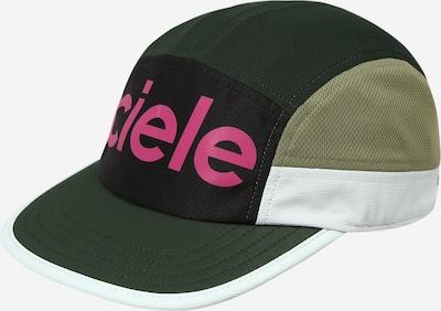 CIELE ATHLETICS Athletic Cap in Olive / Dark green / Dark pink / Black / White, Item view