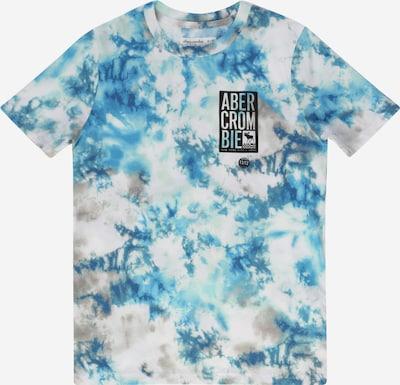 Abercrombie & Fitch Camiseta en azul / azul cielo / negro / blanco, Vista del producto