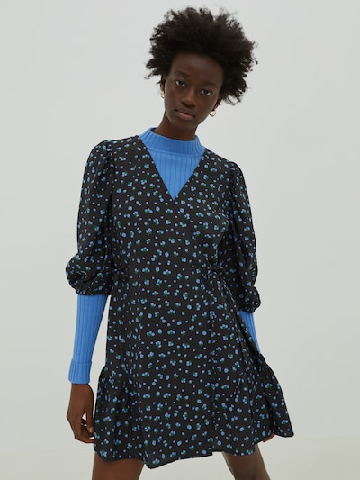 EDITED Kleid 'Gemma' in blau / schwarz, Modelansicht