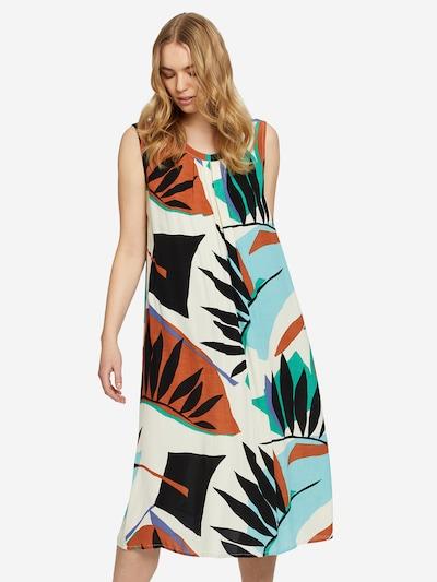 Masai Sommerkleid in beige / hellblau / grün / schwarz, Modelansicht
