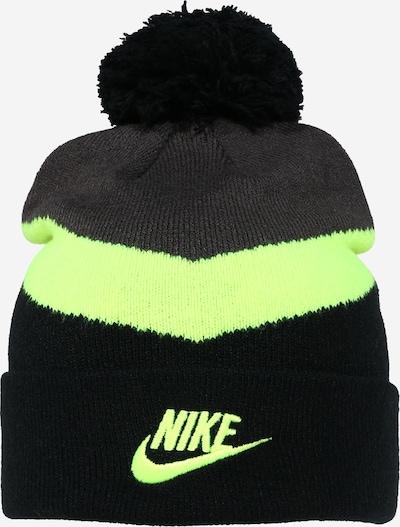 Nike Sportswear Mütze in anthrazit / neongrün / schwarz, Produktansicht