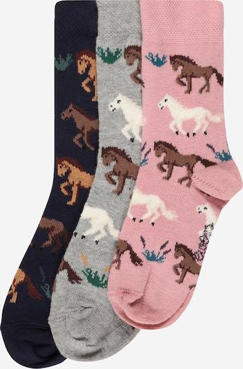 EWERS Sokken in de kleur Navy / Bruin / Grijs / Rosa / Wit, Productweergave