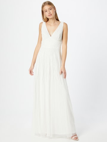 LACE & BEADS Evening Dress 'Lorelai' in White