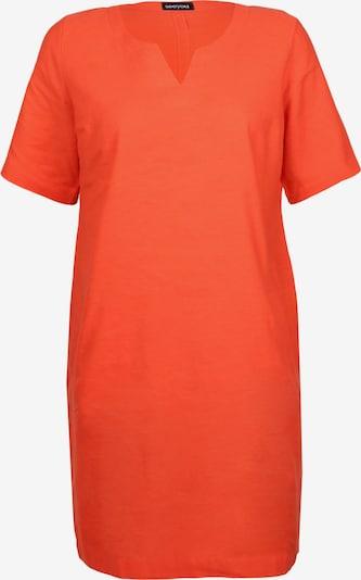 seeyou Etuikleid mit Leinen in orange, Produktansicht
