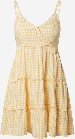 HOLLISTER Letnia sukienka w kolorze żółty / białym: Widok z przodu