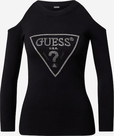 GUESS Pullover 'Aurelie' in schwarz / silber, Produktansicht