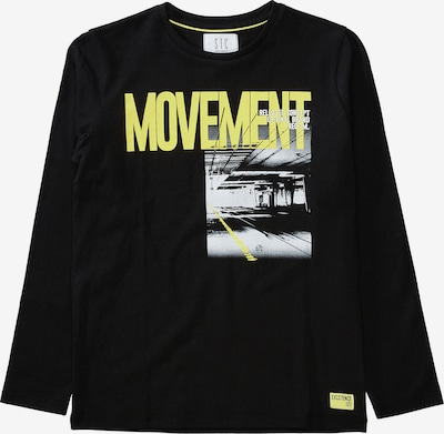 Tricou STACCATO pe galben / negru / alb, Vizualizare produs