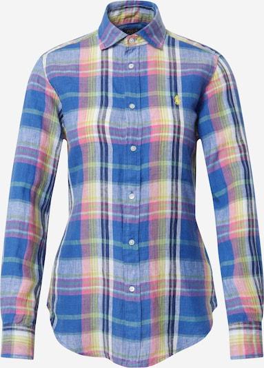 POLO RALPH LAUREN Bluse in blau / gelb / jade / pink / weiß, Produktansicht