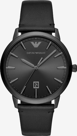 ARMANI Analoguhr in schwarz, Produktansicht