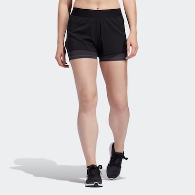 ADIDAS PERFORMANCE ' Alphaskin Two-in-One Shorts ' in schwarz, Modelansicht