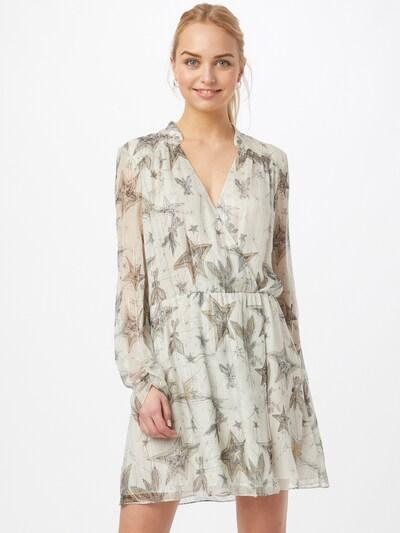 PATRIZIA PEPE Kleid in sand / grau / naturweiß, Modelansicht