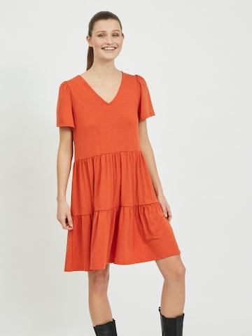 VILA Summer dress 'Edena' in Orange