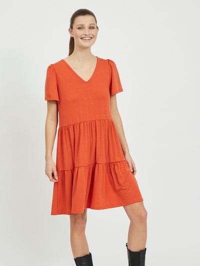 Rochie 'Edena' VILA pe roșu orange, Vizualizare model