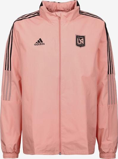 ADIDAS PERFORMANCE Veste outdoor 'Los Angeles FC' en rose ancienne / noir, Vue avec produit