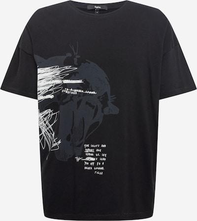 Tricou 'Arne' tigha pe gri închis / negru / alb, Vizualizare produs