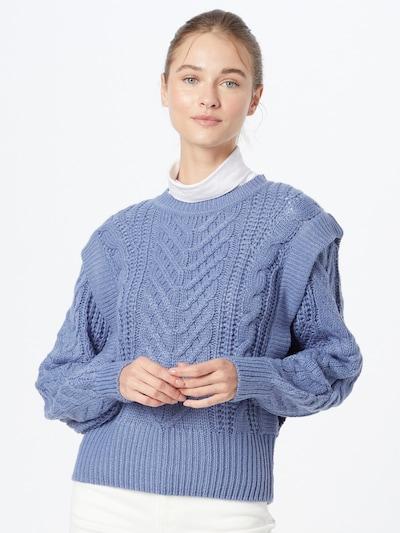 b.young Pull-over 'BYOTINKA' en bleu fumé, Vue avec modèle