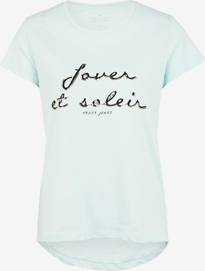 Cross Jeans T-Shirt ' 55664 ' in gold / mint / schwarz, Produktansicht