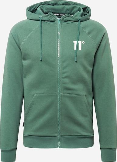 11 Degrees Sweatjacke in hellgrün / weiß, Produktansicht