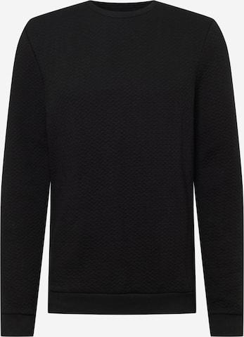 TOM TAILOR DENIM Sweatshirt in Schwarz