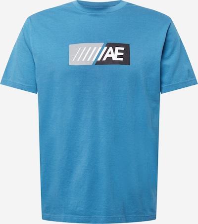 Maglietta American Eagle di colore blu cielo / nero / bianco: Vista frontale