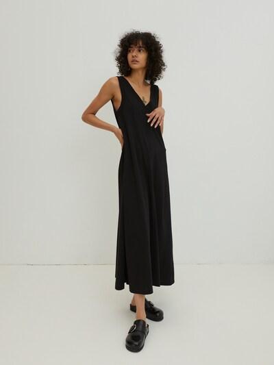 EDITED Kleid 'Henley' in schwarz, Modelansicht