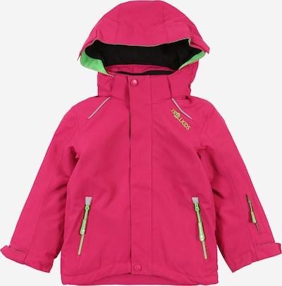 TROLLKIDS Outdoorjas ' Holmenkollen ' in de kleur Neongroen / Pink, Productweergave