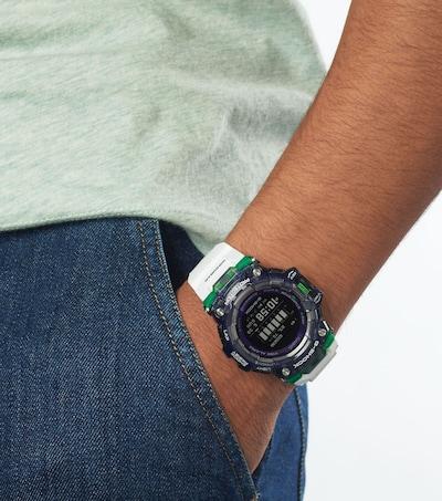 CASIO Uhr in grün / schwarz / weiß: Frontalansicht